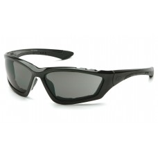 Pyramex Accurist Safety Glasses, Black Frame, Gray Lens, Anti-Fog