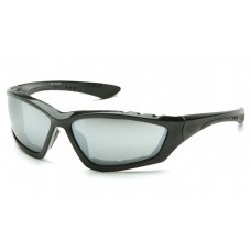 Pyramex Accurist Safety Glasses, Black Frame, Silver Mirror Lens