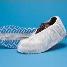 LARGE SHOE COVER - POLYPROPYLENE NON-SKID - BLUE WITH WHITE TREAD, 150 PR / CASE
