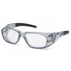 Pyramex Emerge Plus SG9810TR25 Top Reader Safety Glasses Gray Frame Clear Lens +2.5 Magnification