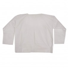 WHITE KEYSTONE DISPOSABLE SHIRT, KEYGUARD, PULL OVER, LONG SLEEVE, ROUND KNECK, 50 / CASE