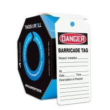 OSHA Danger Safety Tags: Tags By-The-Roll- Barricade Tag 100 / Roll