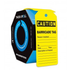 OSHA Caution Tags: Tags By-The-Roll - Barricade Tag 100 / Roll