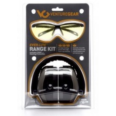 Venture Gear Range Kit ,PM8010 Earmuff with Ever-Lite Black Frame and Amber Lens