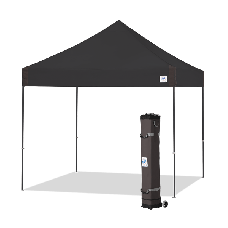 10' x 10' E-Z Up Vantage Shelter with roller Bag and Spikes, Black