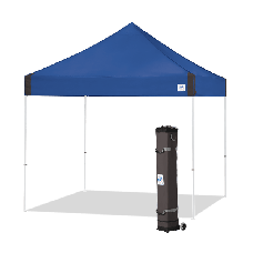 10' x 10' E-Z Up Vantage Shelter with roller Bag and Spikes, Royal Blue