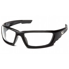 Venture Gear Brevard VGSB1010DTB Safety Glasses Shiny Black Frame Clear Anti Fog Lens