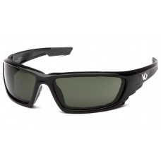 Venture Gear Brevard VGSB1026DTB Safety Glasses Shiny Black Frame Forest Gray Anti Fog Lens