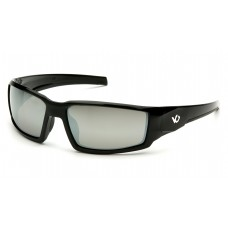 Venture Gear Pagosa VGSB570T Safety Glasses Black Frame Silver Mirror Anti Fog Lens