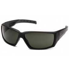 Venture Gear Overwatch VGSB722T Safety Glasses Black Frame Smoke Green Anti Fog Lens