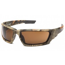 Venture Gear VGSCM1018DTB Brevard Safety Glasses Camo Frame Bronze Anti-Fog Lens