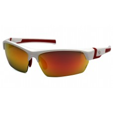 Venture Gear Tensaw VGSWR355T Safety Glasses White Frame Sky Red Mirror Anti Fog Lens