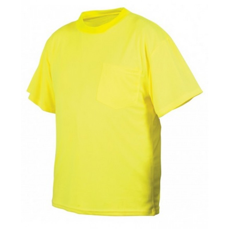 Pyramex rts2110ns hi vis lime yellow safety shirt no for Hi vis shirts with reflective tape