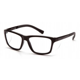 Pyramex SB10710D Conaire Safety Glasses - Black Frame - Clear Lens - W/ Removable Side Shields