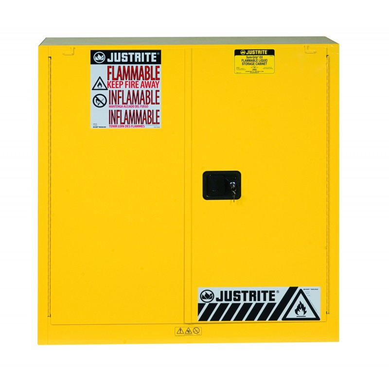 Justrite 893020 Sure-Grip EX Flammable Safety Cabinet, Cap ...