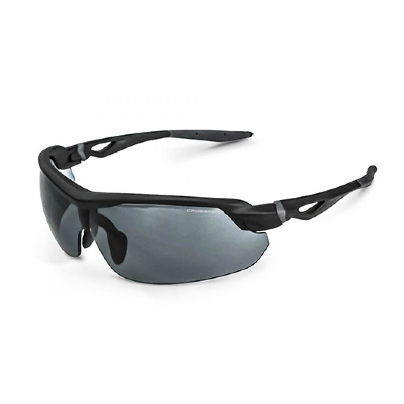 8995a2bf55 Crossfire CIRRUS Safety Glasses Smoke Lens and Matte Black Frame