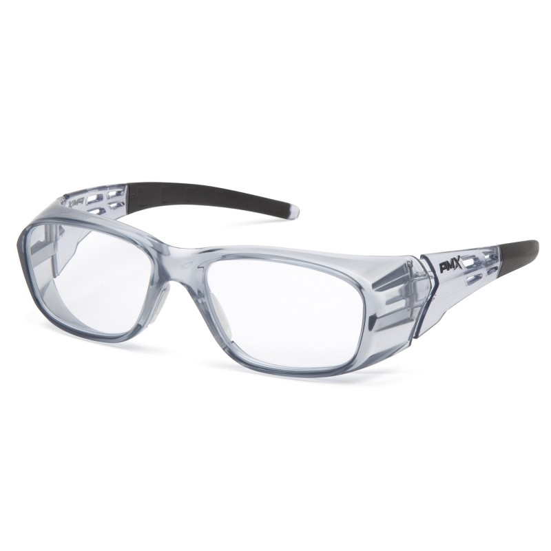 76d72d6826 Pyramex Emerge Plus SG9810R25 Full Reader Safety Glasses Gray Frame Clear  Lens +2.5 Magnification