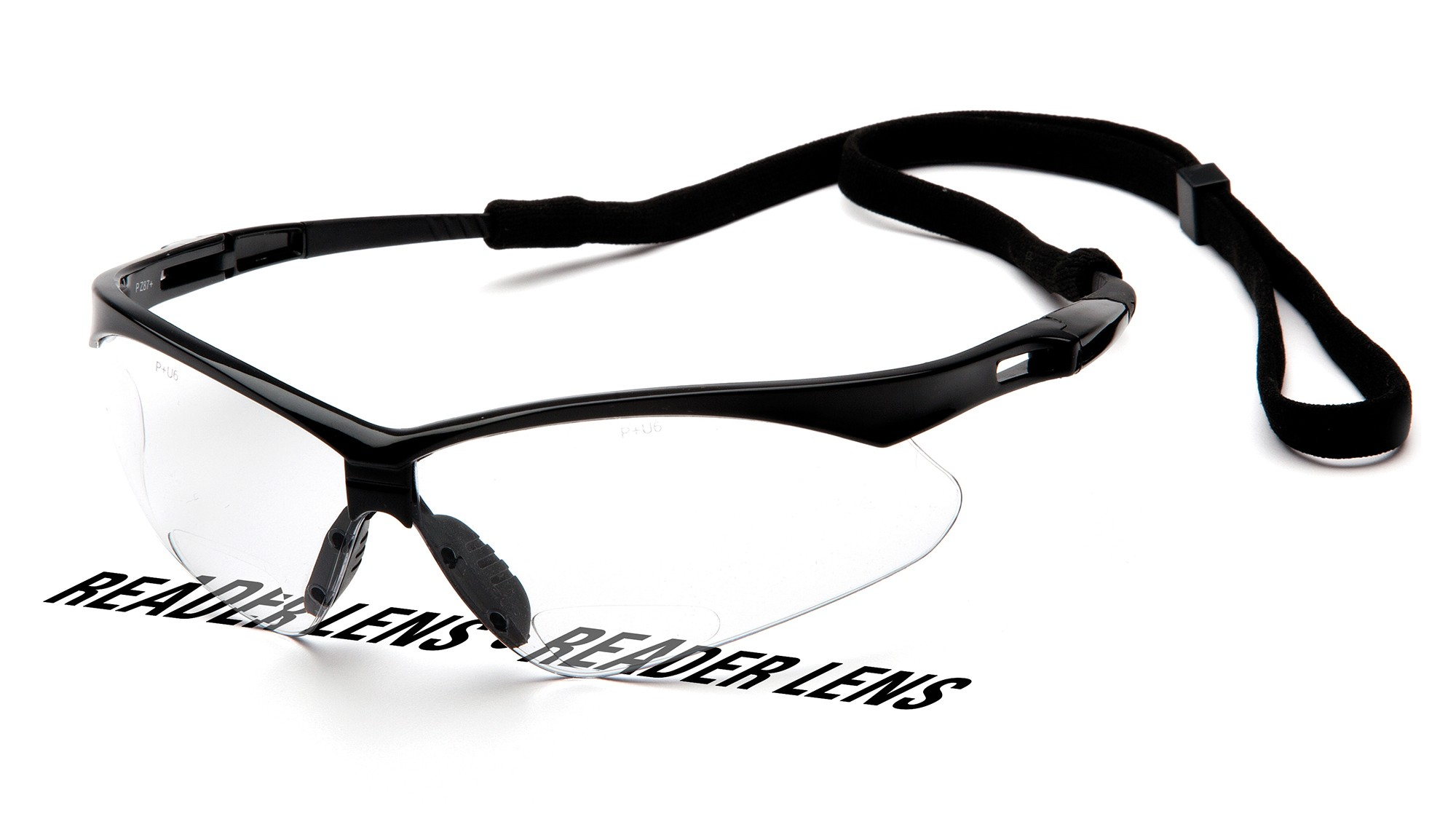 a4fbc9d441 Pyramex PMXTREME Readers Safety Glasses Black Frame Clear ...