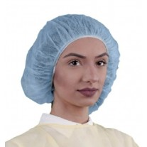 "Keystone 24"" Bouffant Cap - Polypropylene - 100% Latex Free - Blue - 1,000 / Case"