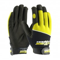 PIP 120-MX2820 Maximum Safety Professional Mechanic's Gloves, Black / Hi-Vis Yellow, 1 Pair