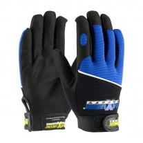 PIP 120-MX2830 Maximum Safety Professional Mechanic's Gloves, Blue / Black, 1 Pair