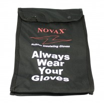 NOVAX 148-2136 Nylon Bag for 11 In. Electrical Rated Glove - Black