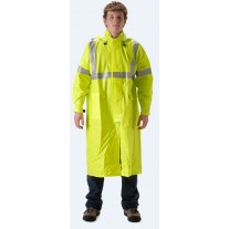 "NASCO ArcLite 1503CFY FR Rainwear - Full Length Coat 48"" - Hi Vis Yellow"