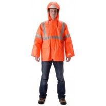 NASCO ArcLite 1503JFO FR Rainwear - Waist Length Jacket Only - Hi Vis Orange