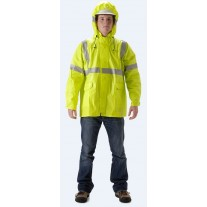 NASCO ArcLite 1503JFY FR Rainwear - Waist Length Jacket Only - Hi Vis Yellow
