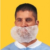 Keystone Large Beard Cover - Polypropylene - 100% Latex Free - White - 1,000 / Case