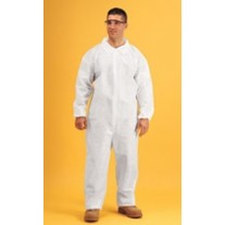 Keystone Keyguard White Coverall - Open Wrists and Ankles - Zipper Front - Single Collar - 25 Pack - Large - (LIMITED QTY AVAILABLE)