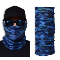Face Guard by John Boy - Blue Camo Buff