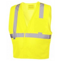 Pyramex RVHL2510BRD Hi Vis Yellow Safety Vest - D-Ring Slot - Breakaway - Type R - Class 2