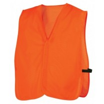 Pyramex RV120NS Hi Vis Orange Safety Vest - Universal Fit - No Reflective Tape - Non-Rated