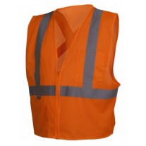 Pyramex RCZ2120 Hi Vis Orange Safety Vest - X Back - Type R - Class 2