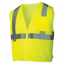 Pyramex RVZ2110SE Hi Vis Yellow Safety Vest - Non-FR Self Extinguishing - Type R - Class 2