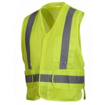 Pyramex RCA2510SE Hi Vis Yellow Safety Vest - Non FR Self Extinguishing - Breakaway - X Back - Type R - Class 2