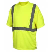 Pyramex RTS2110NP Hi Vis Yellow Safety T-Shirt - No Pocket - Type R - Class 2