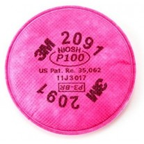 3M 2091 Filters - Oil & Non Oil Based Particles - P100 - Magenta - 2/PK