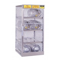 Justrite 23003 Cylinder Locker for Safe Storage of 8 Horizontal 20 or 33-lb. LPG Cylinders