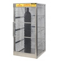 Justrite 23006 Cylinder Locker for Safe Storage of up to 10 Vertical Compressed Gas Cylinders