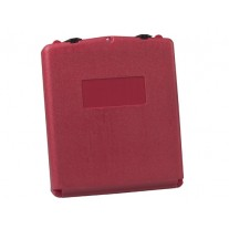 Justrite S23306 Document Storage Box for SDS sheets, larger-sized, polyethylene, lockable front opening, Single Pack