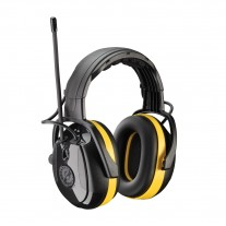 Hellberg 264-45002 Relax Electronic Ear Muff with Headband Adjustment and AM/FM Radio - NRR 24