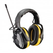 Hellberg 264-46002 React™ Electronic Ear Muff with Headband Adjustment, AM/FM Radio and Active Listening - NRR 24