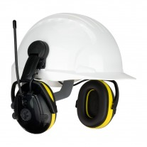 Hellberg 264-46102 React™ Cap Mounted Electronic Ear Muff with AM/FM Radio and Active Listening - NRR 23