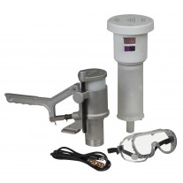 Justrite 28202 Aerosolv Standard System For Recycling Aerosol Cans, Puncturing Unit, Filter, Wire, and Goggles