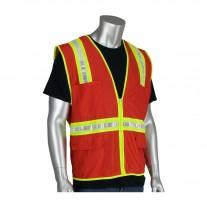 PIP 300-1000 Red Non-ANSI Riggers Surveyor Style Safety Vest