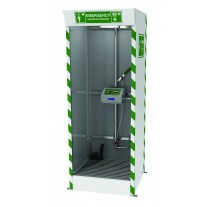 Hughes SD32K45G Emergency Cubicle Shower - Shower and Covered ABS Eye/Face Wash