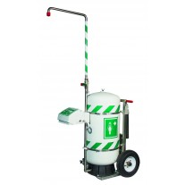 Hughes 40K45G-A Mobile Self-Contained Emergency Safety Shower with Eye and Face Wash 30 Gallon