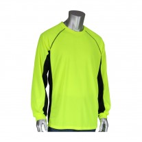 PIP 310-1150B Non-ANSI Long Sleeve T-Shirt with 50+ UPF Sun Protection, Insect Repellent Treatment and Black Trim
